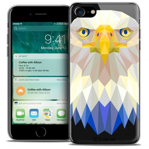 "Coque Crystal Gel Apple iPhone 7 (4.7"") Extra Fine Polygon Animals - Aigle"