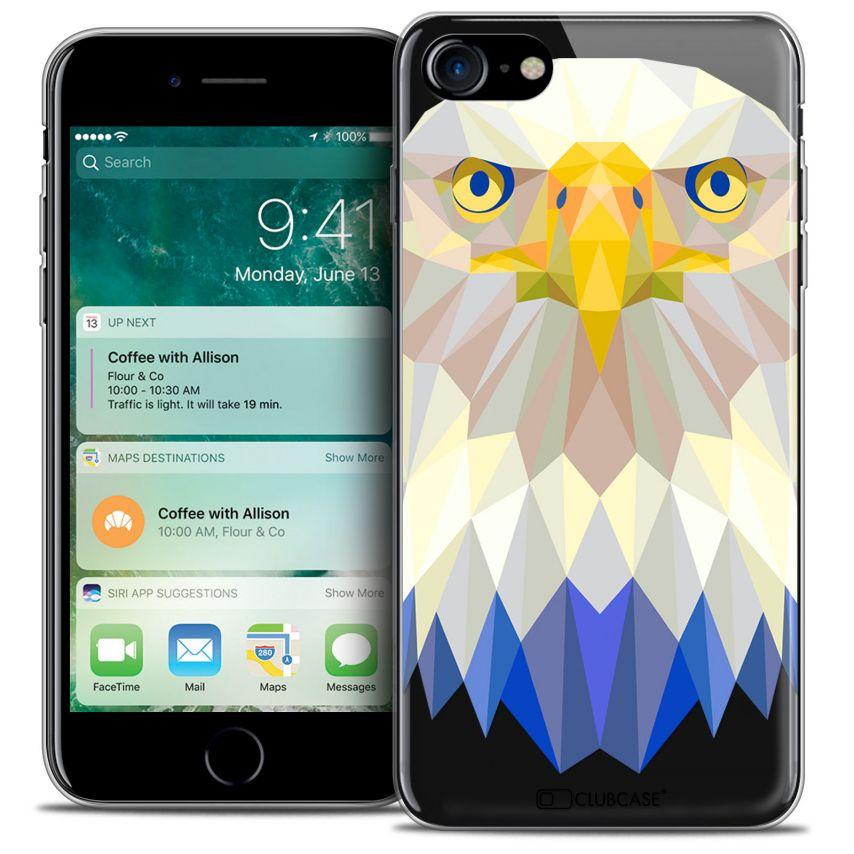 "Coque Crystal Gel Apple iPhone 7 (4.7"") Extra Fine Polygon Animals - Aigle"