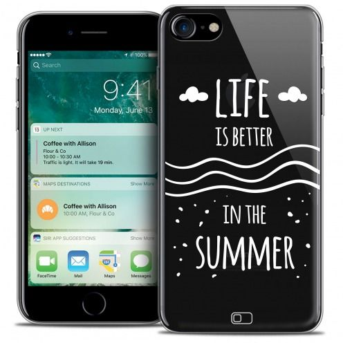 "Coque Crystal Gel Apple iPhone 7 (4.7"") Extra Fine Summer - Life's Better"