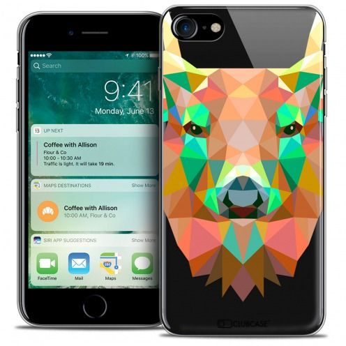 "Coque Crystal Gel Apple iPhone 7 (4.7"") Extra Fine Polygon Animals - Cerf"