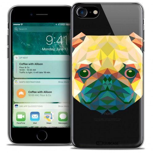 "Coque Crystal Gel Apple iPhone 7 (4.7"") Extra Fine Polygon Animals - Chien"