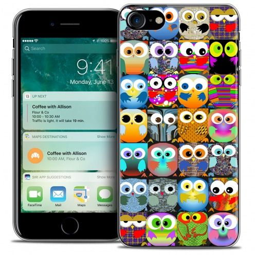 "Coque Crystal Gel Apple iPhone 7 (4.7"") Extra Fine Claude - Hibous"