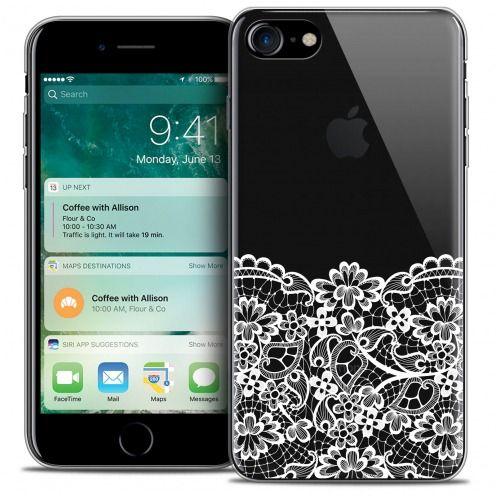 "Coque Crystal Gel Apple iPhone 7 (4.7"") Extra Fine Spring - Bas dentelle"