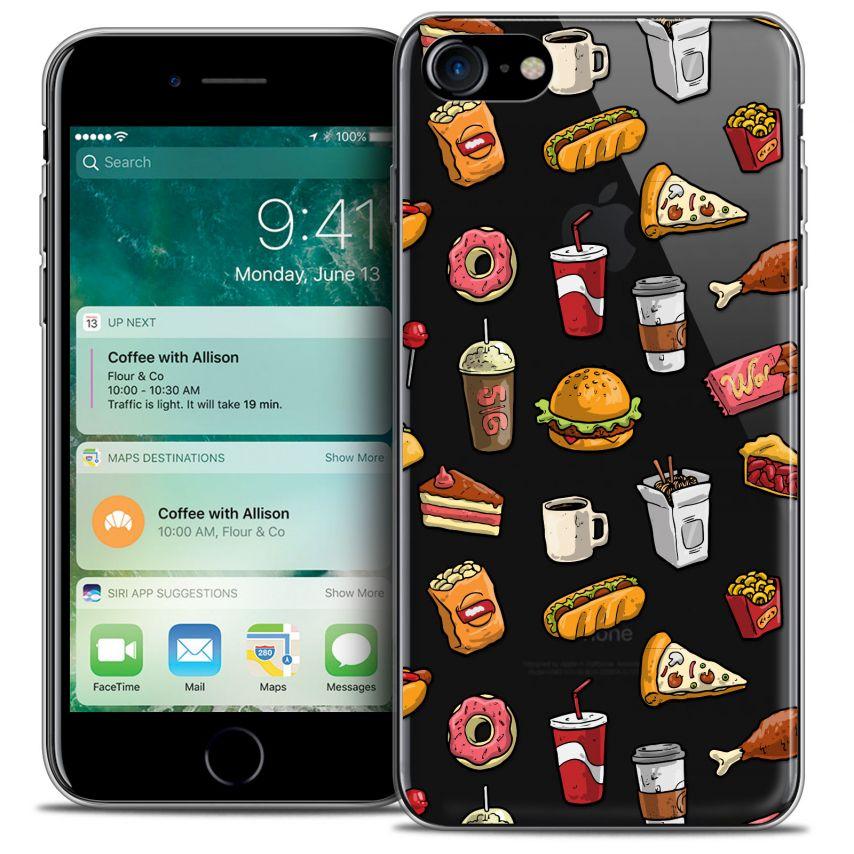 "Coque Crystal Gel Apple iPhone 7 (4.7"") Extra Fine Foodie - Fast Food"