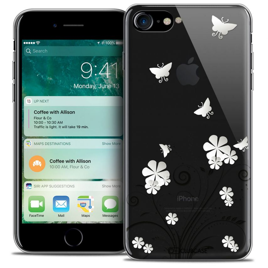 """Coque Crystal Gel Apple iPhone 7 (4.7"""") Extra Fine Summer - Papillons"""