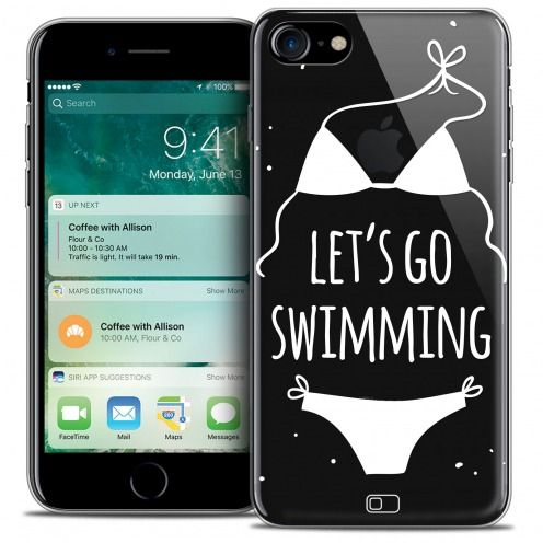 "Coque Crystal Gel Apple iPhone 7 (4.7"") Extra Fine Summer - Let's Go Swim"