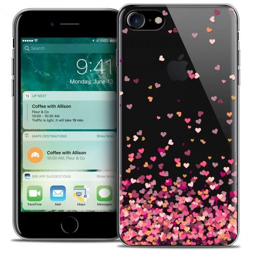 "Coque Crystal Gel Apple iPhone 7 (4.7"") Extra Fine Sweetie - Heart Flakes"