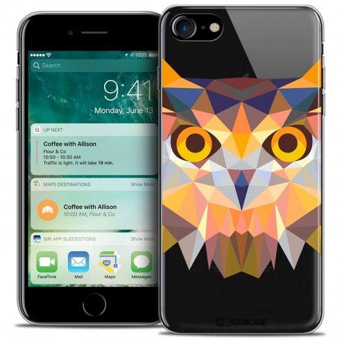 "Coque Crystal Gel Apple iPhone 7 (4.7"") Extra Fine Polygon Animals - Hibou"