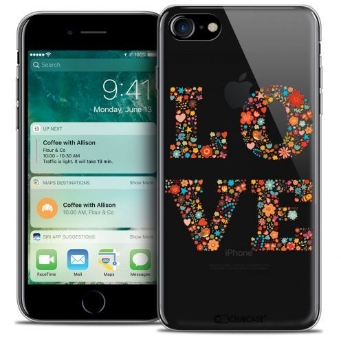 "Coque Crystal Gel Apple iPhone 7 (4.7"") Extra Fine Summer - Love Flowers"