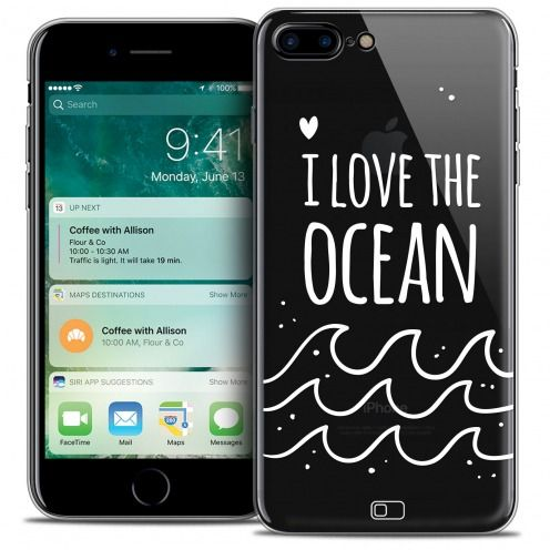 "Coque Crystal Gel Apple iPhone 7 (4.7"") Extra Fine Summer - I Love Ocean"