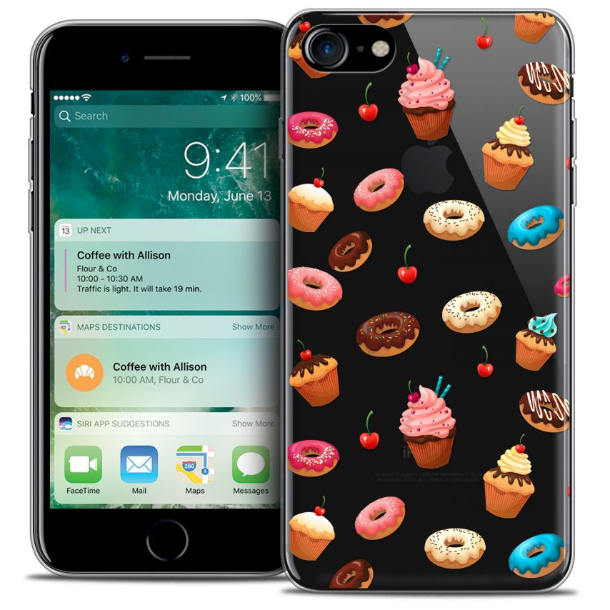 "Coque Crystal Gel Apple iPhone 7 (4.7"") Extra Fine Foodie - Donuts"