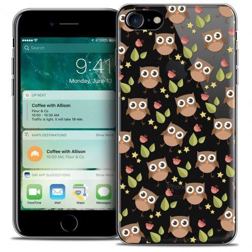 "Coque Crystal Gel Apple iPhone 7 (4.7"") Extra Fine Summer - Hibou"