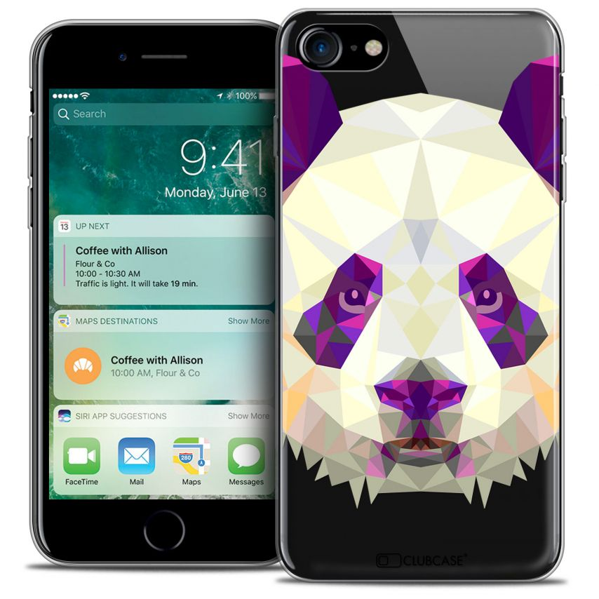"Coque Crystal Gel Apple iPhone 7 (4.7"") Extra Fine Polygon Animals - Panda"