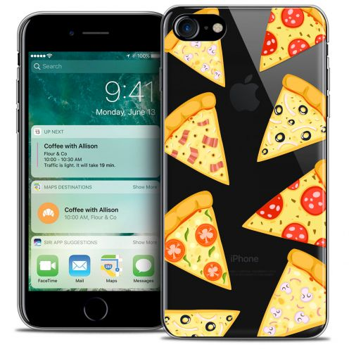 "Coque Crystal Gel Apple iPhone 7 (4.7"") Extra Fine Foodie - Pizza"
