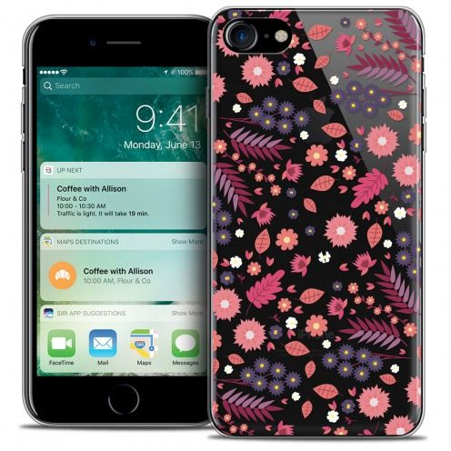 "Coque Crystal Gel Apple iPhone 7 (4.7"") Extra Fine Spring - Floraison"