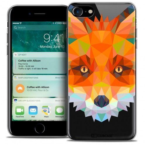 "Coque Crystal Gel Apple iPhone 7 (4.7"") Extra Fine Polygon Animals - Renard"