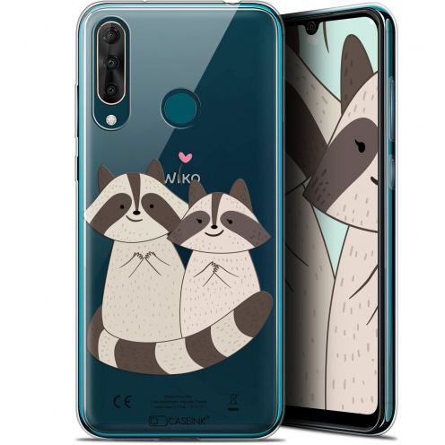 "Coque Gel Wiko View 3 PRO (6.3"") Extra Fine Sweetie - Racoon Love"