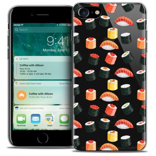 """Coque Crystal Gel Apple iPhone 7 (4.7"""") Extra Fine Foodie - Sushi"""
