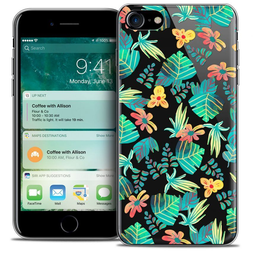 """Coque Crystal Gel Apple iPhone 7 (4.7"""") Extra Fine Spring - Tropical"""