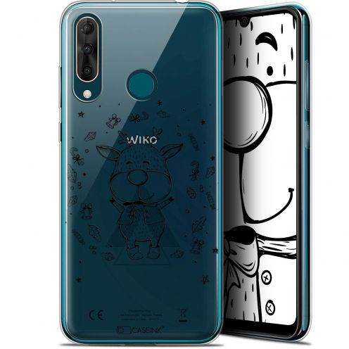 "Coque Gel Wiko View 3 PRO (6.3"") Extra Fine Noël 2017 - Sketchy Cerf"