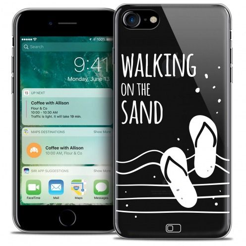 "Coque Crystal Gel Apple iPhone 7 (4.7"") Extra Fine Summer - Walking on the Sand"