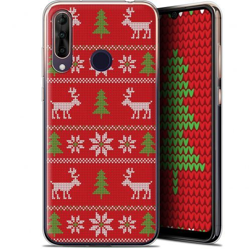 "Coque Gel Wiko View 3 PRO (6.3"") Extra Fine Noël 2017 - Couture Rouge"