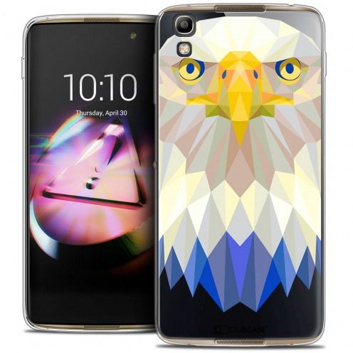 Coque Crystal Gel Alcatel Idol 4 Extra Fine Polygon Animals - Aigle