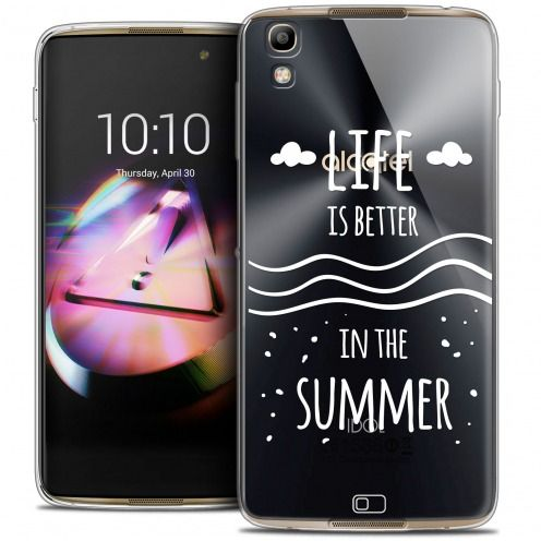 Coque Crystal Gel Alcatel Idol 4 Extra Fine Summer - Life's Better