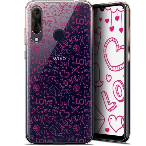 "Coque Gel Wiko View 3 PRO (6.3"") Extra Fine Love - Doodle"