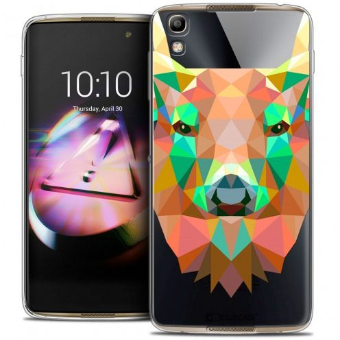 Coque Crystal Gel Alcatel Idol 4 Extra Fine Polygon Animals - Cerf