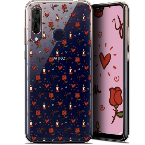 """Coque Gel Wiko View 3 PRO (6.3"""") Extra Fine Love - Bougies et Roses"""