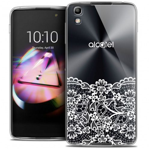 Coque Crystal Gel Alcatel Idol 4 Extra Fine Spring - Bas dentelle