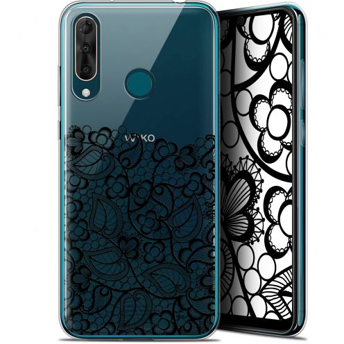 "Coque Gel Wiko View 3 PRO (6.3"") Extra Fine Spring - Bas dentelle Noir"