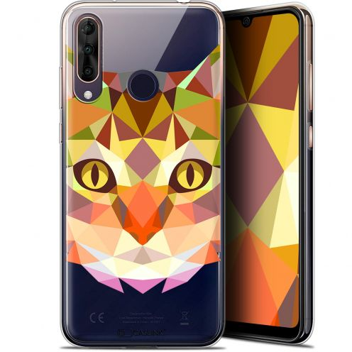 "Coque Gel Wiko View 3 PRO (6.3"") Extra Fine Polygon Animals - Chat"