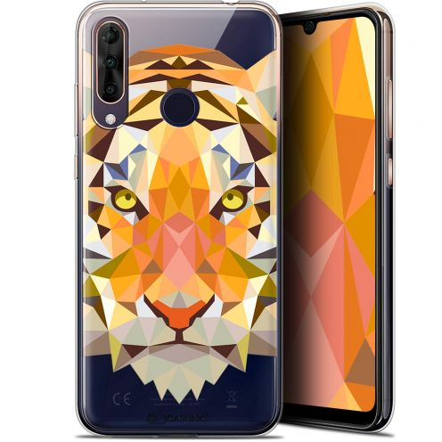 "Coque Gel Wiko View 3 PRO (6.3"") Extra Fine Polygon Animals - Tigre"