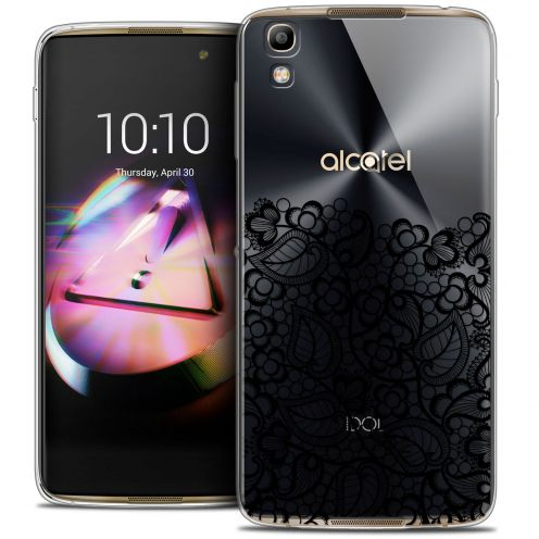 Coque Crystal Gel Alcatel Idol 4 Extra Fine Spring - Bas dentelle Noir