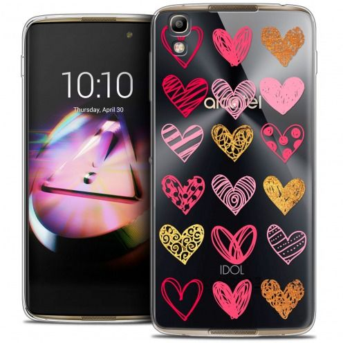 Coque Crystal Gel Alcatel Idol 4 Extra Fine Sweetie - Doodling Hearts