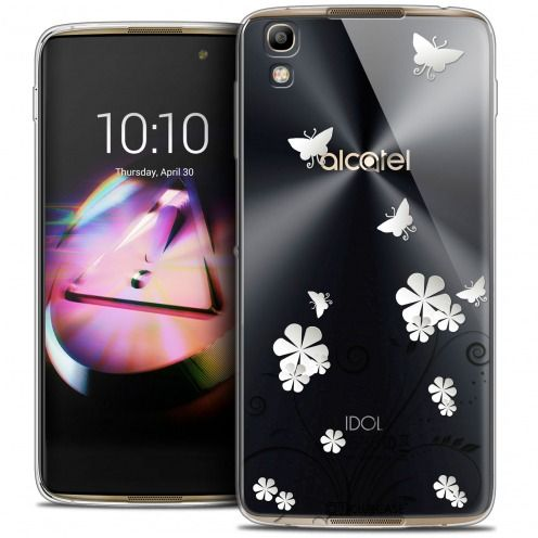 Coque Crystal Gel Alcatel Idol 4 Extra Fine Summer - Papillons