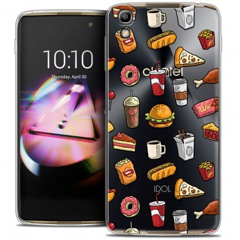Coque Crystal Gel Alcatel Idol 4 Extra Fine Foodie - Fast Food