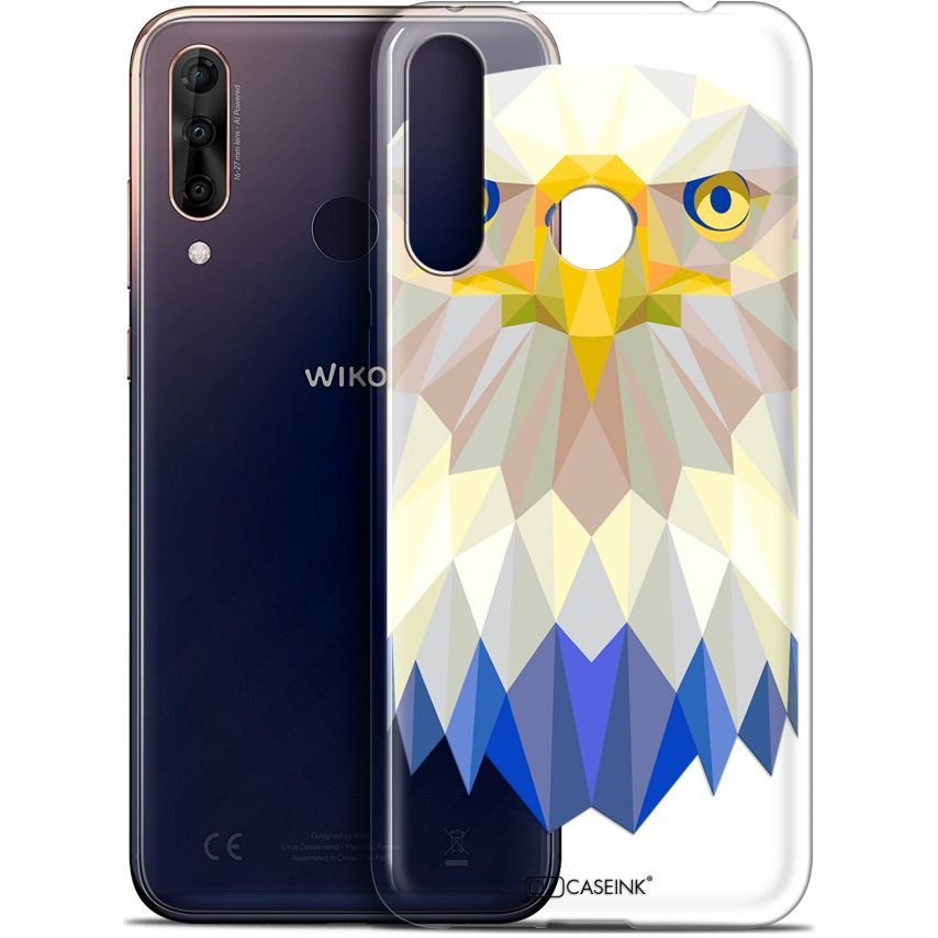 "Coque Gel Wiko View 3 PRO (6.3"") Extra Fine Polygon Animals - Aigle"