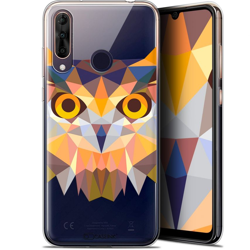 "Coque Gel Wiko View 3 PRO (6.3"") Extra Fine Polygon Animals - Hibou"