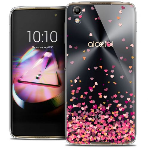 Coque Crystal Gel Alcatel Idol 4 Extra Fine Sweetie - Heart Flakes