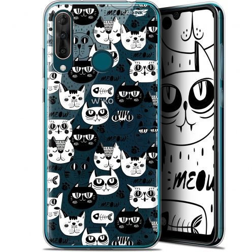 "Coque Gel Wiko View 3 PRO (6.3"") Extra Fine Motif - Chat Noir Chat Blanc"