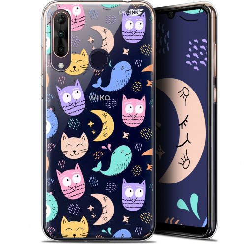 "Coque Gel Wiko View 3 PRO (6.3"") Extra Fine Motif - Chat Hibou"