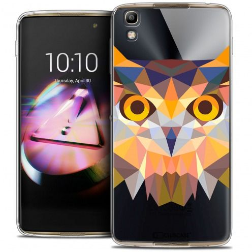 Coque Crystal Gel Alcatel Idol 4 Extra Fine Polygon Animals - Hibou