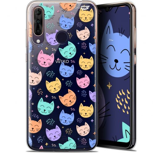 """Coque Gel Wiko View 3 PRO (6.3"""") Extra Fine Motif -  Chat Dormant"""