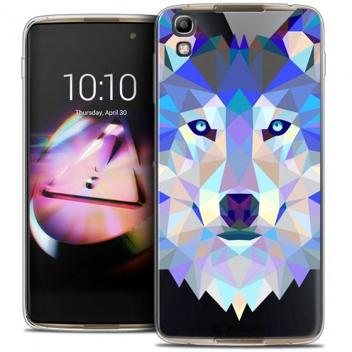 Coque Crystal Gel Alcatel Idol 4 Extra Fine Polygon Animals - Loup