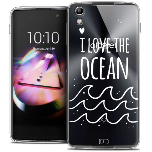 Coque Crystal Gel Alcatel Idol 4 Extra Fine Summer - I Love Ocean