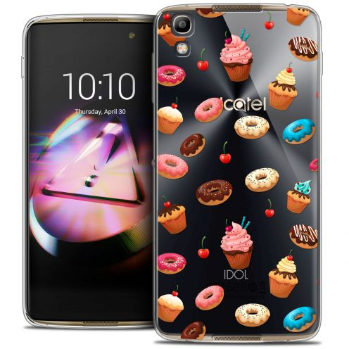 Coque Crystal Gel Alcatel Idol 4 Extra Fine Foodie - Donuts
