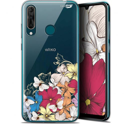 "Coque Gel Wiko View 3 PRO (6.3"") Extra Fine Motif - Nuage Floral"